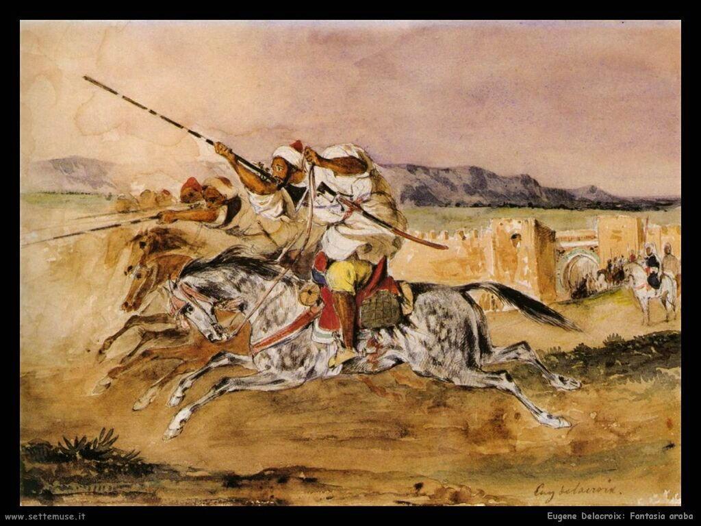 Eugène Delacroix Fantasia araba