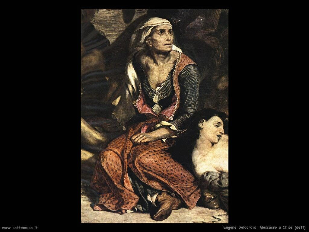 Eugène Delacroix massacro a scio dettaglio