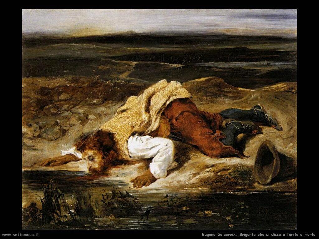Eugène Delacroix Brigante ferito a morte