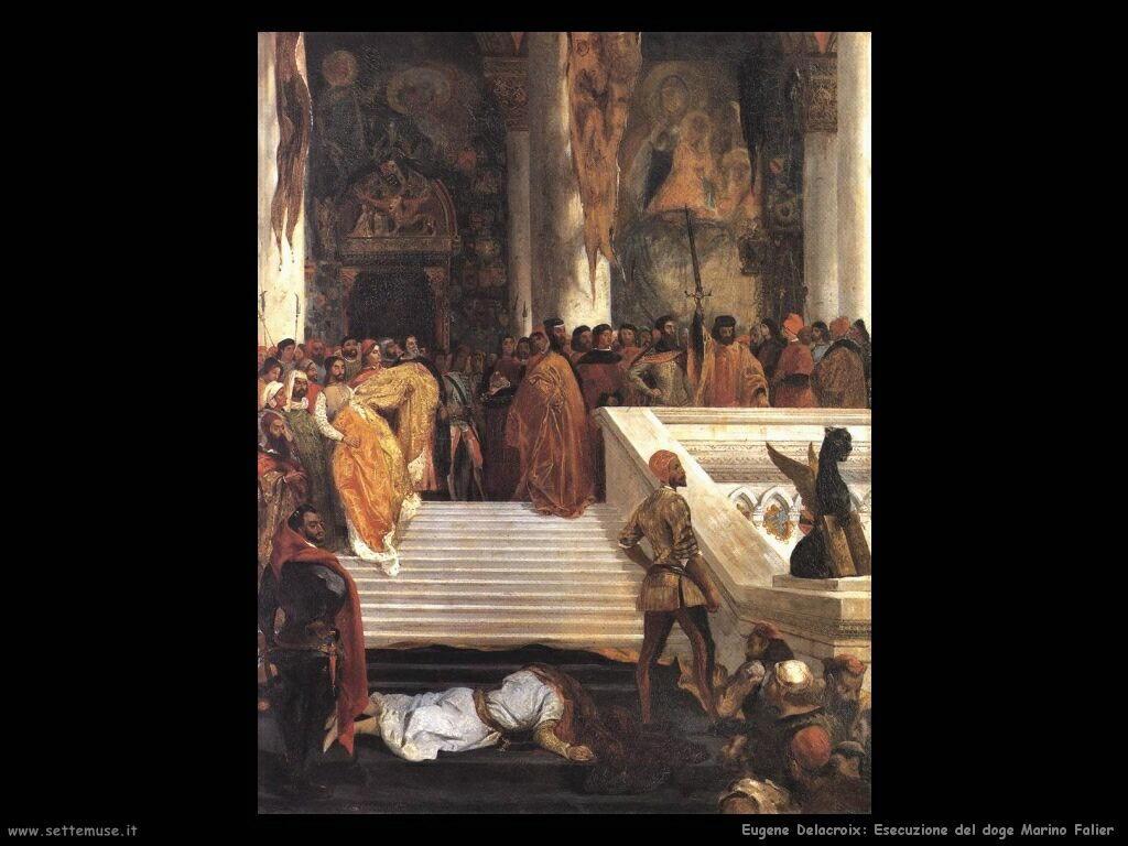Eugène Delacroix Esecuzione del doge Marino Falier