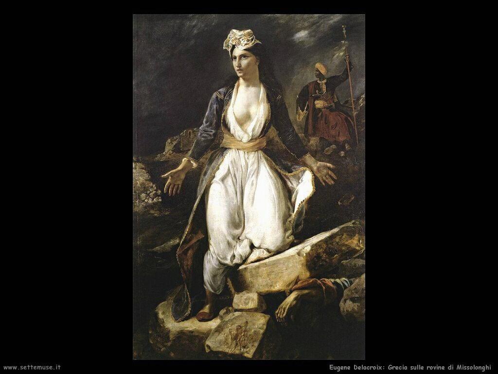 Eugène Delacroix Grecia sulle rovine di Missolonghi