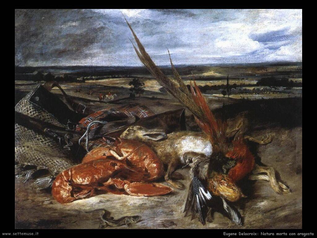 Eugène Delacroix Natura morta con aragosta