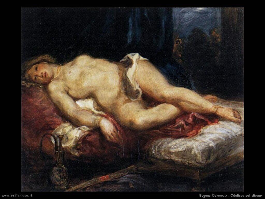 Eugène Delacroix Odalisca sul divano