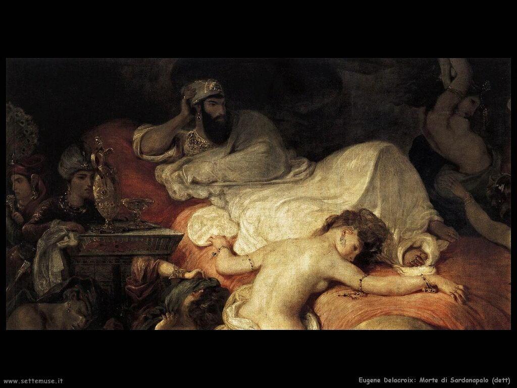 Eugène Delacroix Morte di Sardanapalo
