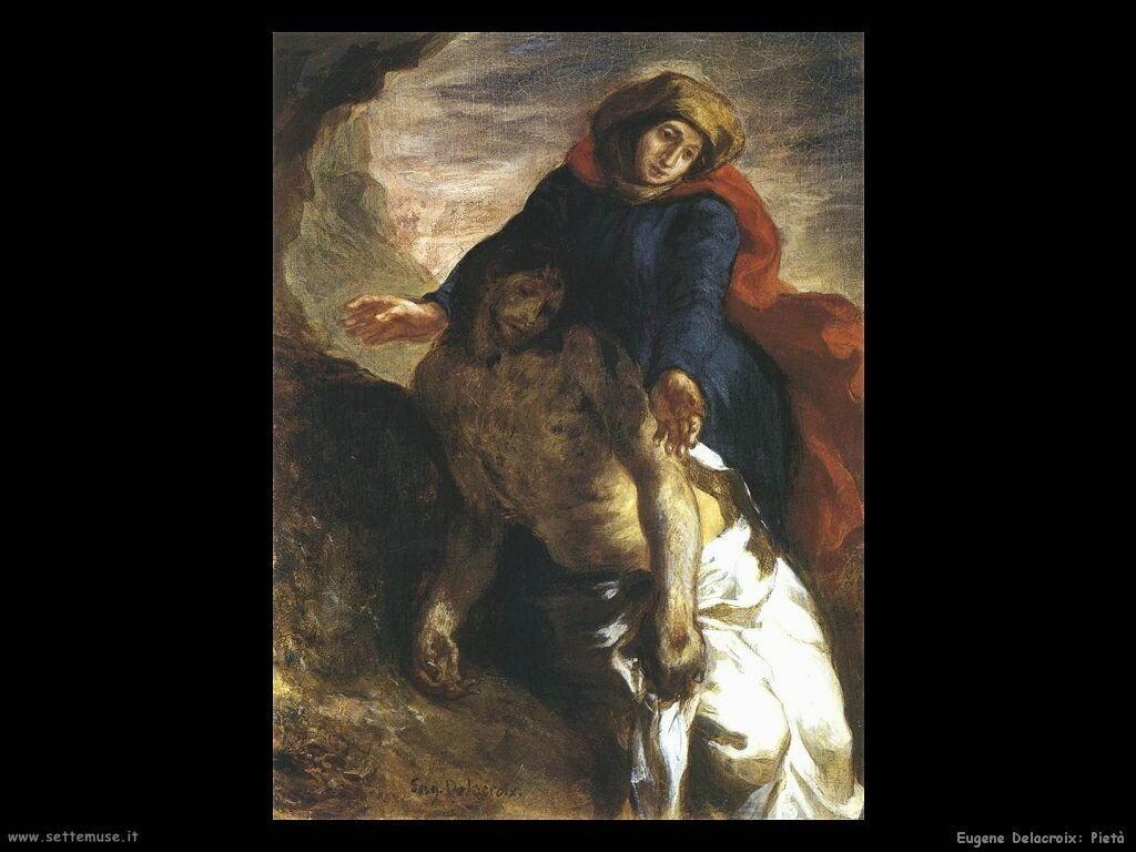 Eugène Delacroix Pietà