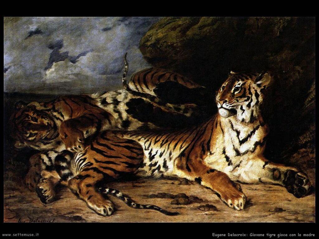 Eugène Delacroix Giovane tigre che gioca