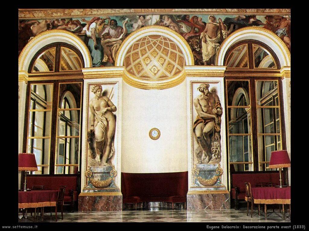 Eugène Delacroix Decorazione parete ovest 1833