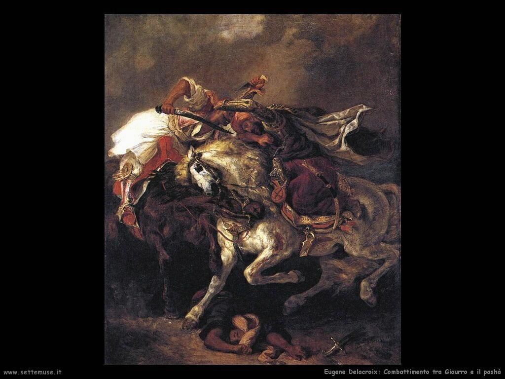 Eugène Delacroix Combattimento tra Giaurro e Pashà