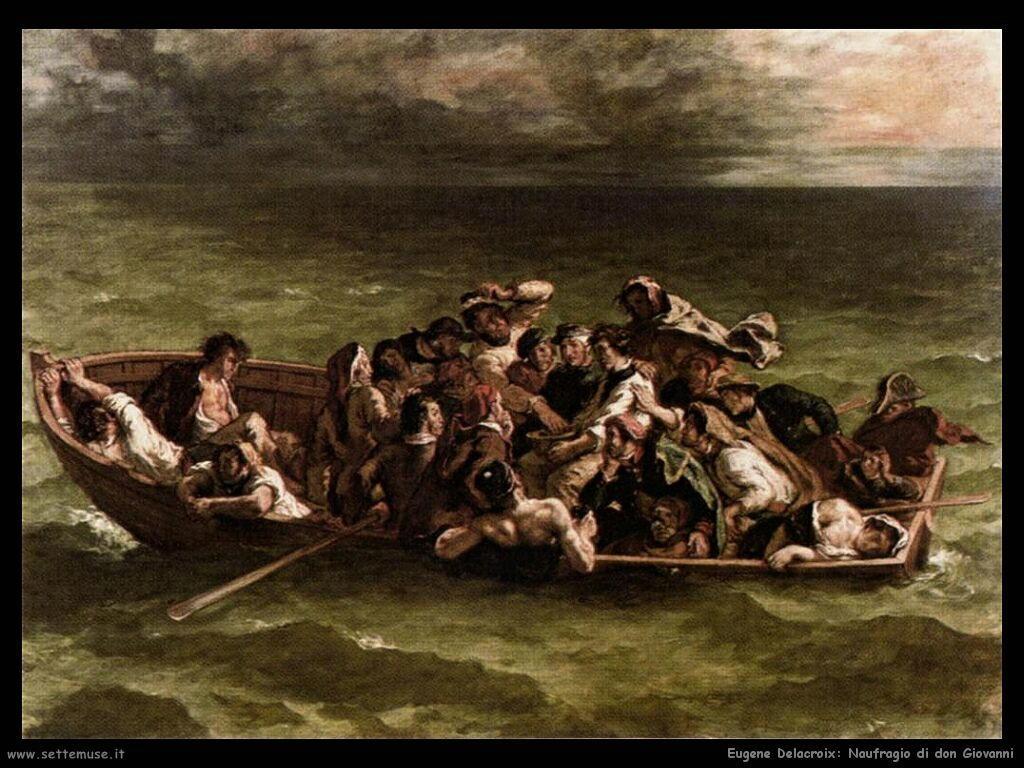 Eugène Delacroix Naufragio di don Giovanni