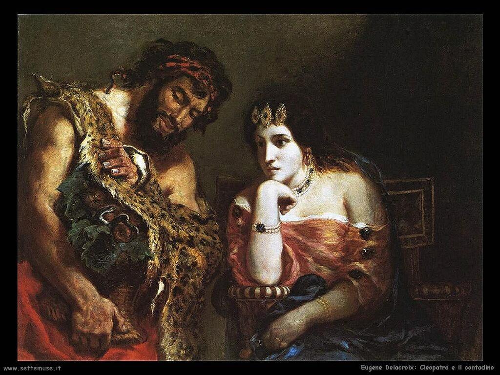 Eugène Delacroix Cleopatra e il contadino