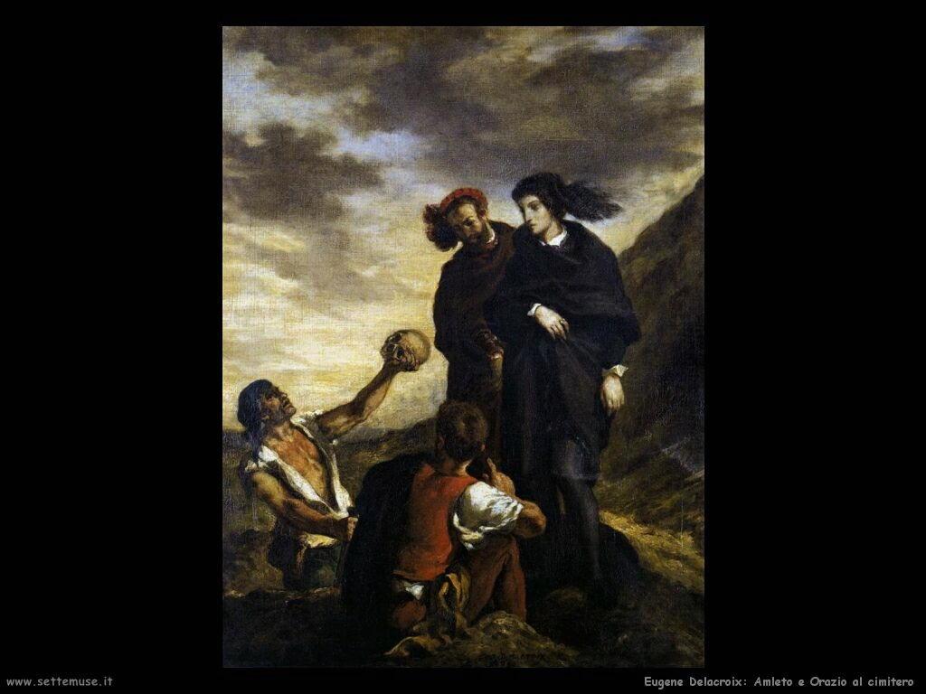 Eugène Delacroix Amleto e Orazio al cimitero