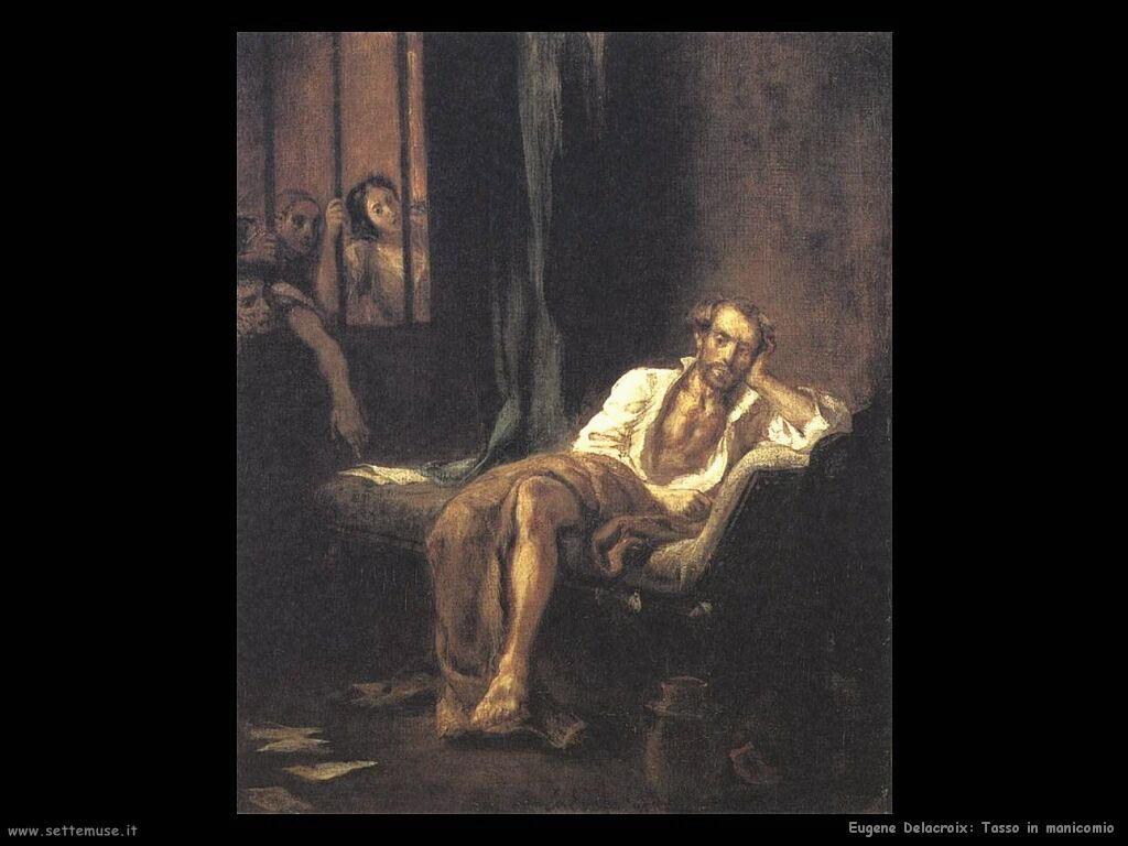 Eugène Delacroix Tasso in manicomio
