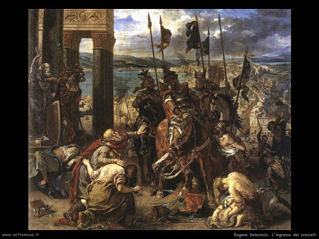 Eugène Delacroix Ingresso dei crociati