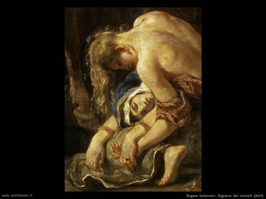 Eugène Delacroix Ingresso dei crociati dett