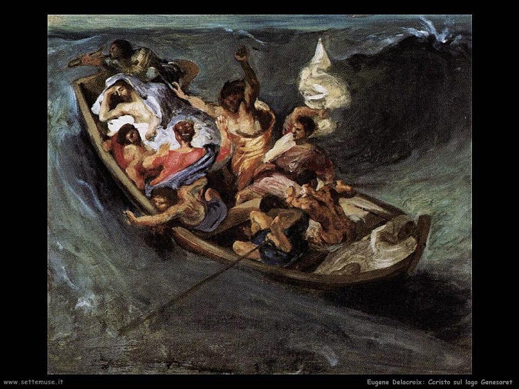 Eugène Delacroix Cristo sul lago Genesaret