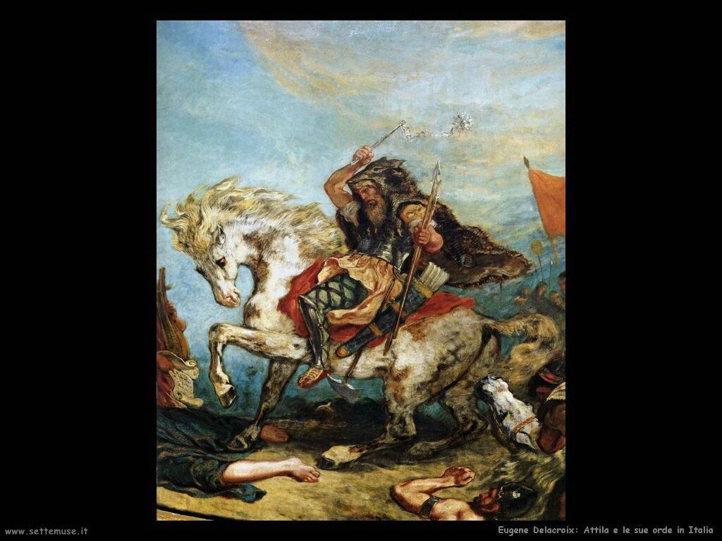 Eugène Delacroix Attila in Italia