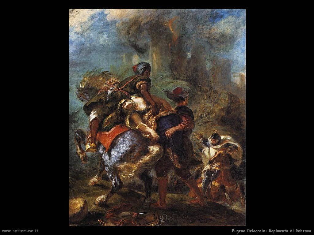 Eugène Delacroix Rapimento di Rebecca