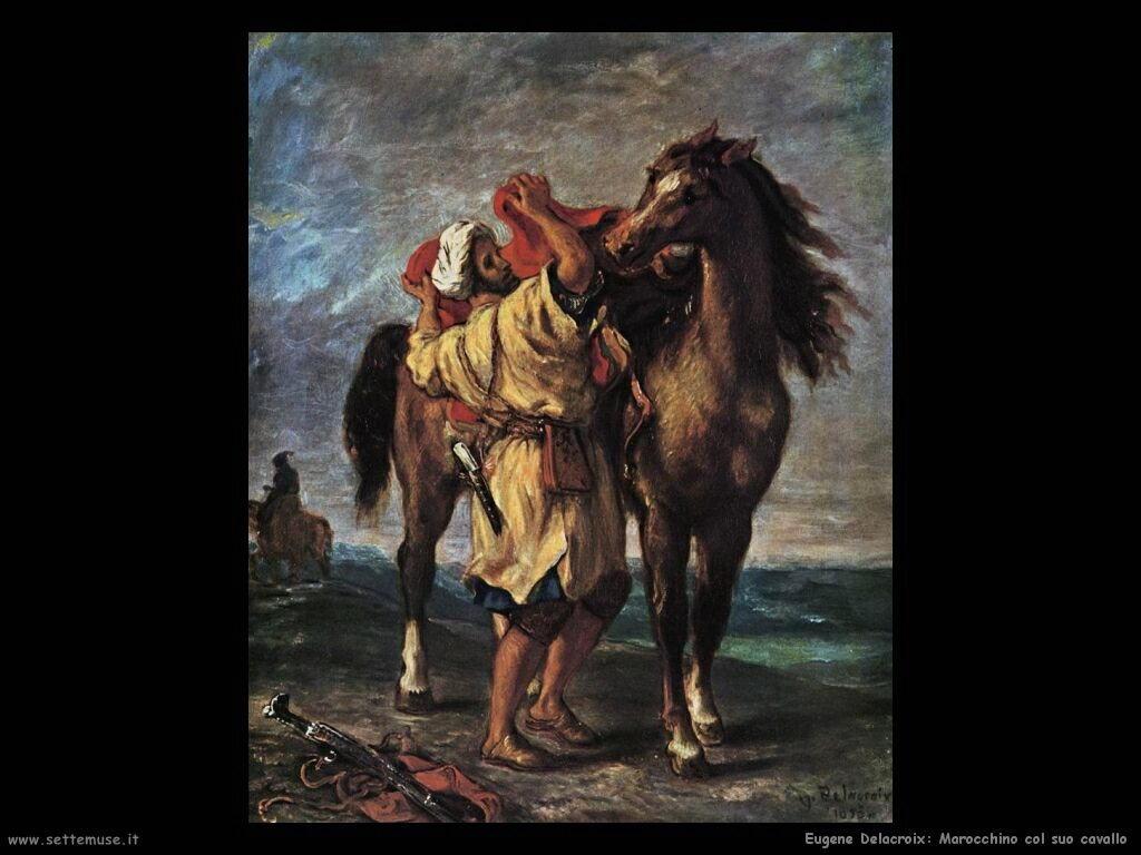 Eugène Delacroix Marocchino col suo cavallo