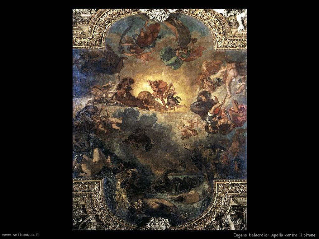 Eugène Delacroix Apollo sconfigge il pitone