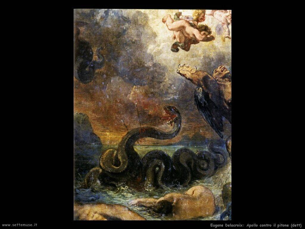 Eugène Delacroix Apollo sconfigge il pitone dett