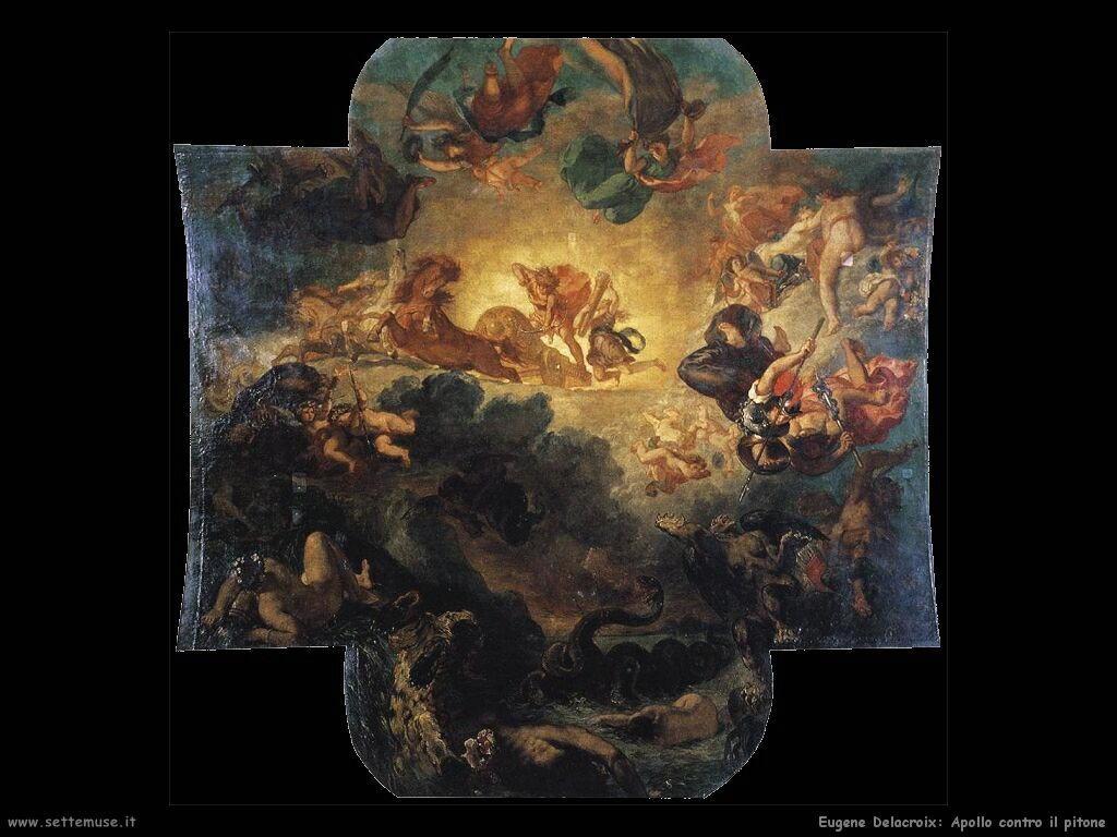 Delacroix Apollo sconfigge il pitone