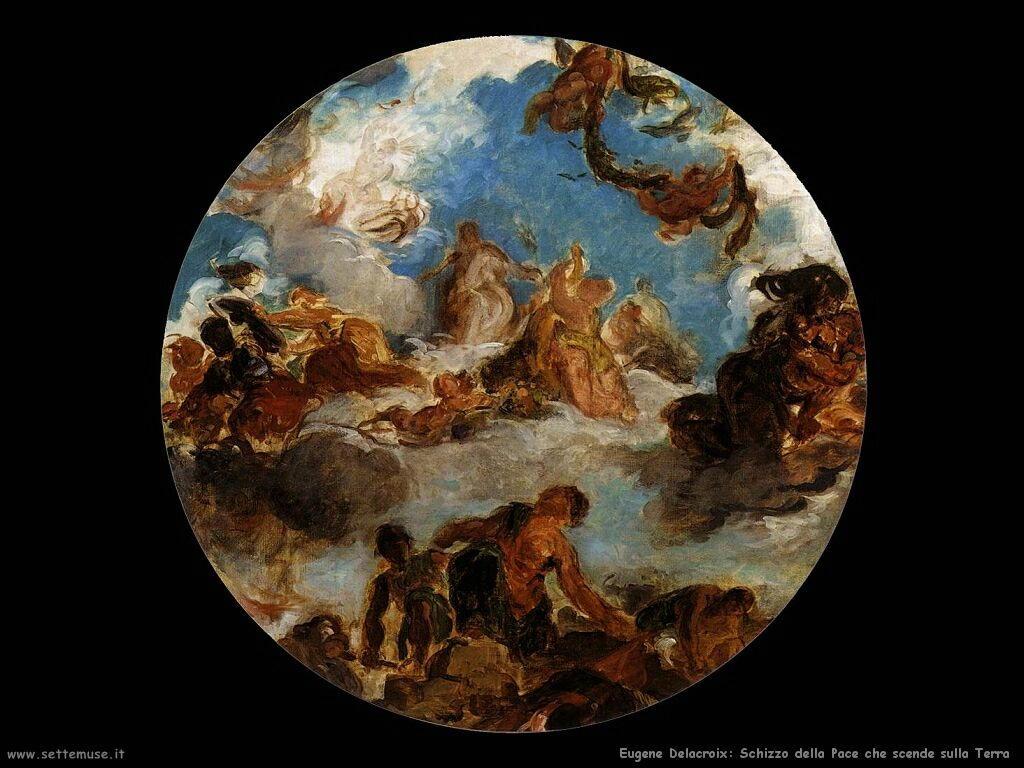 Eugène Delacroix La Pace scende sulla Terra