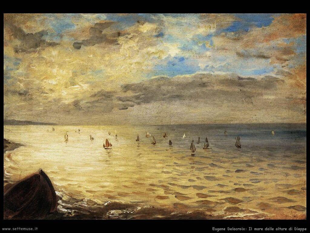 Eugène Delacroix Il mare dalle alture di Dieppe