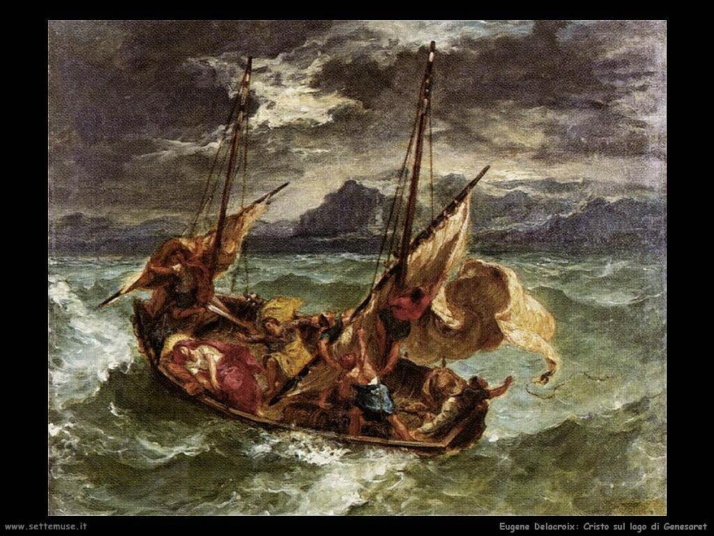 Eugène Delacroix Cristo sul lago di Genesaret