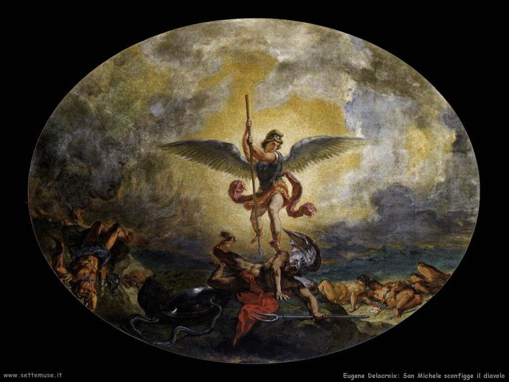 Eugène Delacroix San Michele sconfigge il diavolo