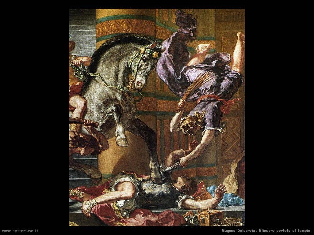 Eugène Delacroix Eliodoro al tempio dettaglio
