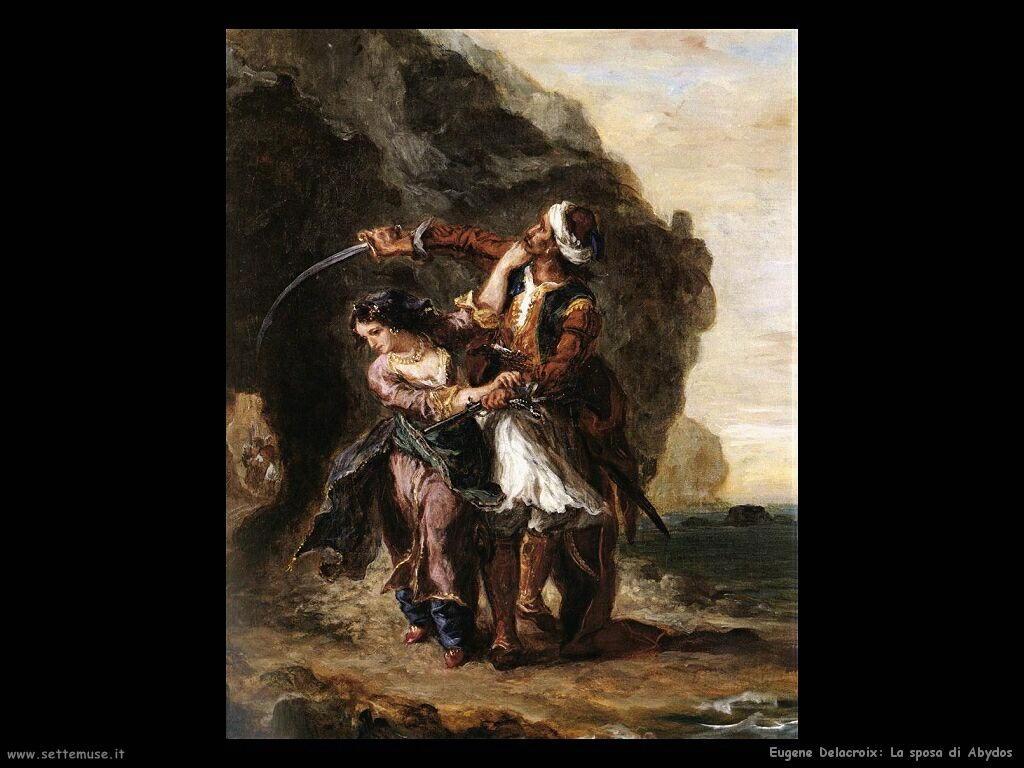 Eugène Delacroix La sposa di Abydos