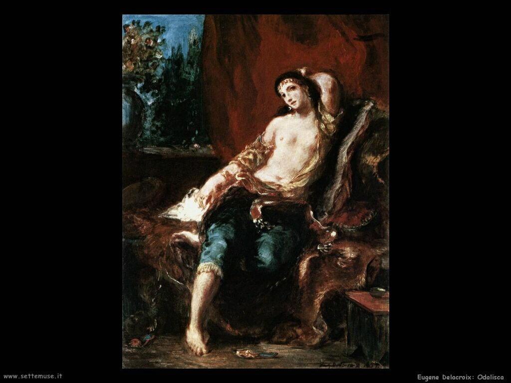 Eugène Delacroix Odalisca
