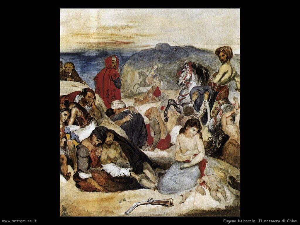 Eugène Delacroix Il massacro di Scio