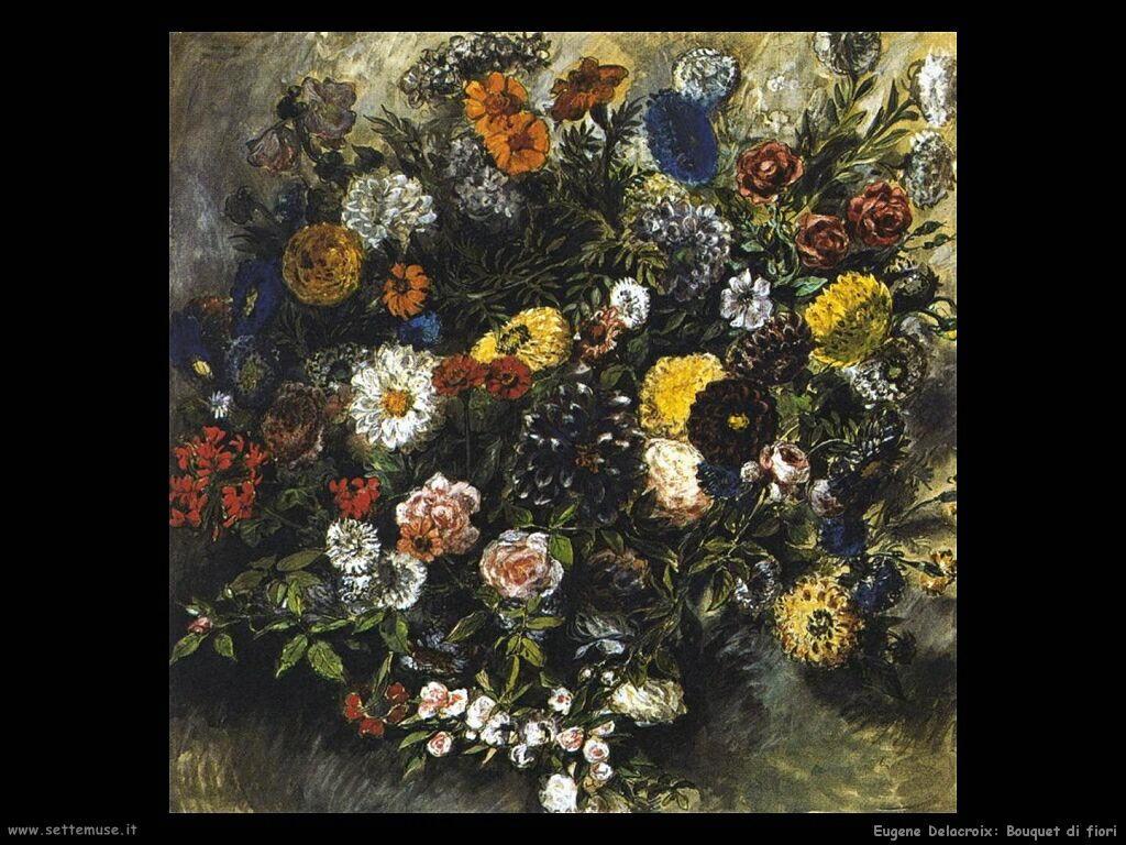 Eugène Delacroix Bouquet di fiori