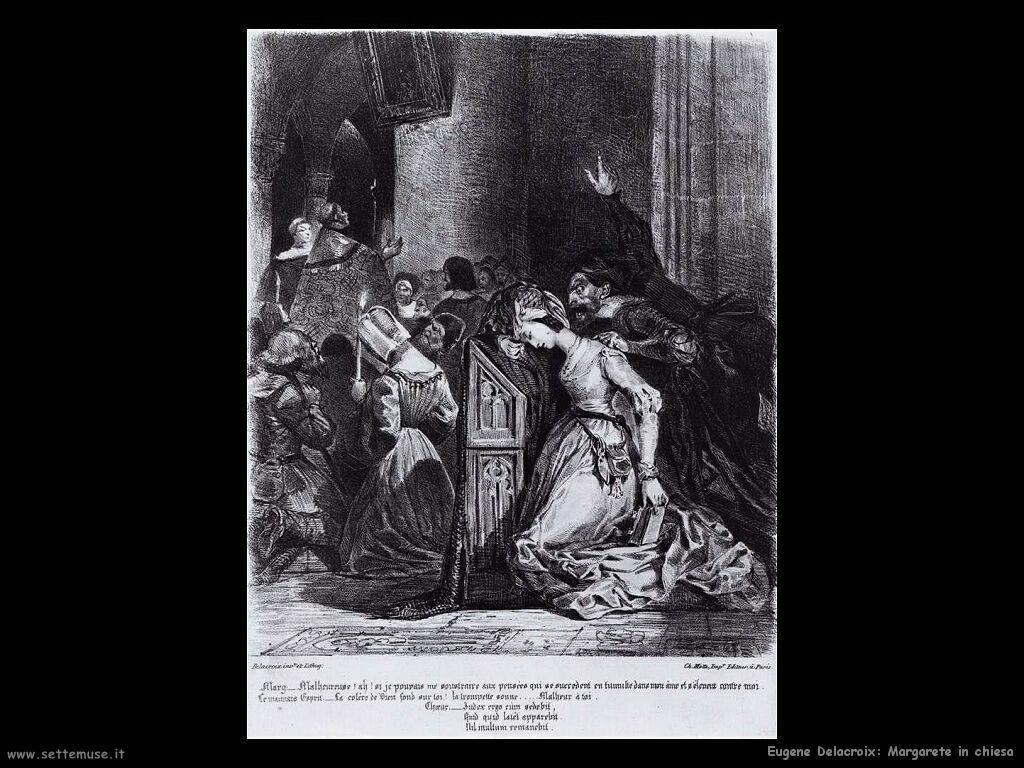Eugène Delacroix Margherita in chiesa