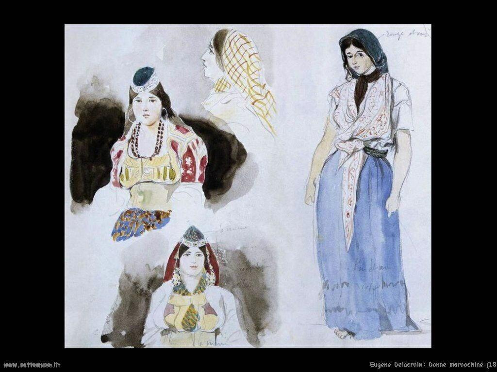 Eugène Delacroix Donne marocchine 1832