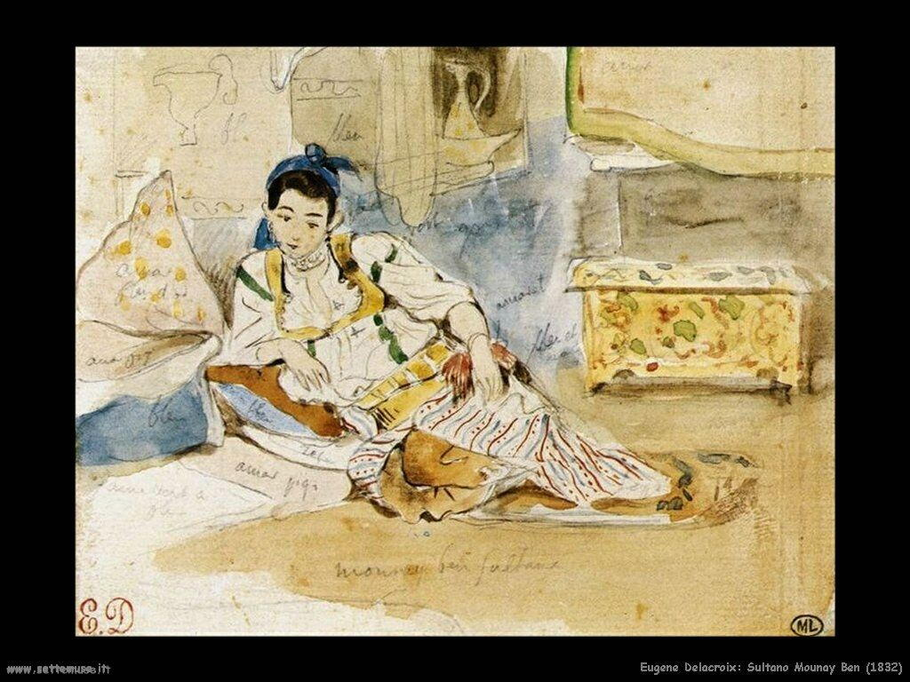 Eugène Delacroix Mounay Ben sultano 1832