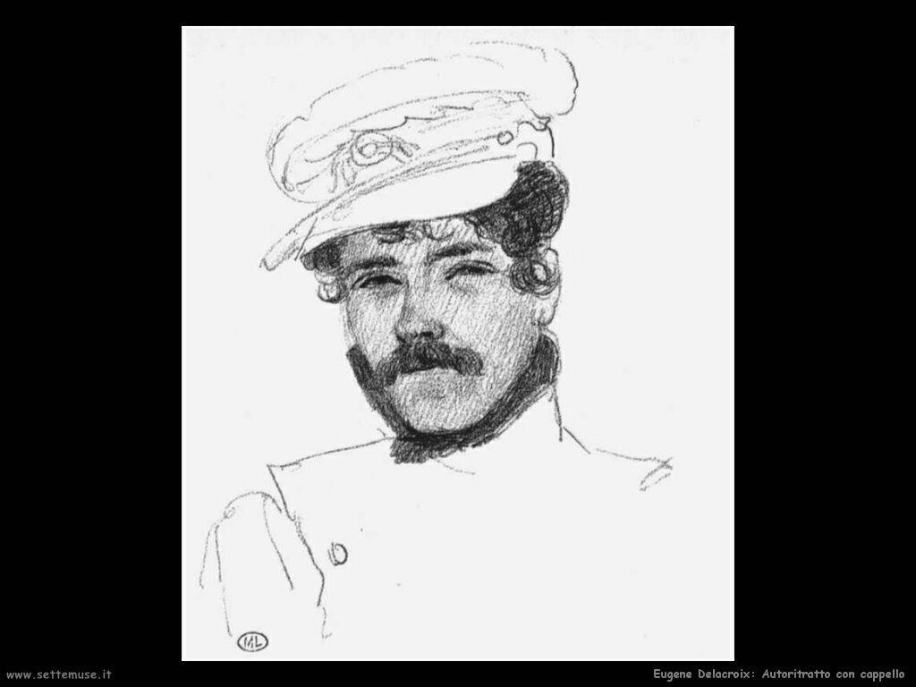 Eugène Delacroix Autoritratto con cappello
