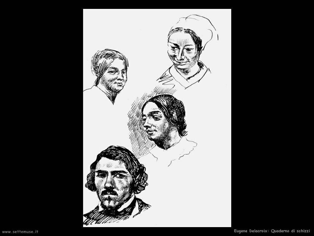 Eugène Delacroix quaderno di schizzi