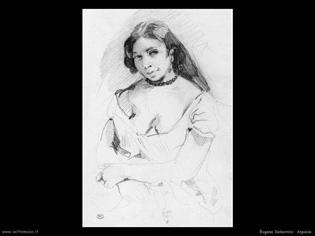 Eugène Delacroix Aspasia