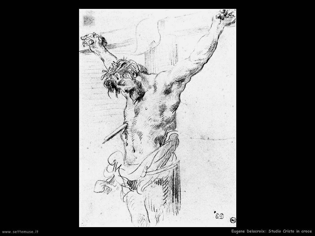 Eugène Delacroix Cristo in croce