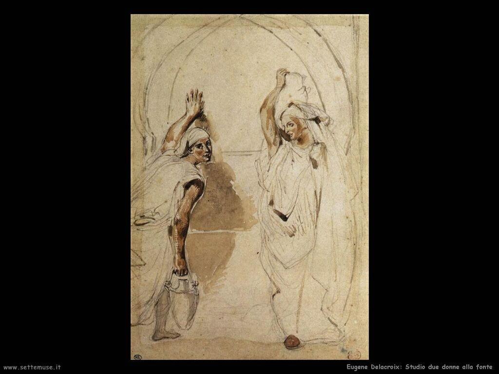 Eugène Delacroix Due donne alla fonte