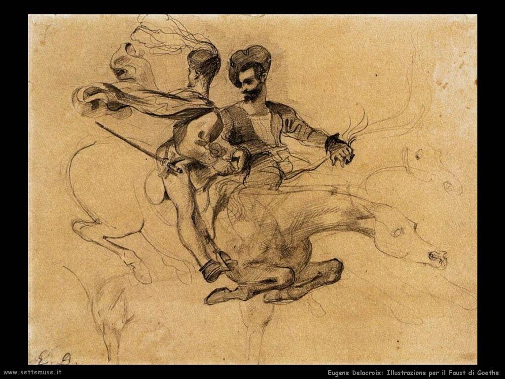 Eugène Delacroix Illustrazione per il Faust