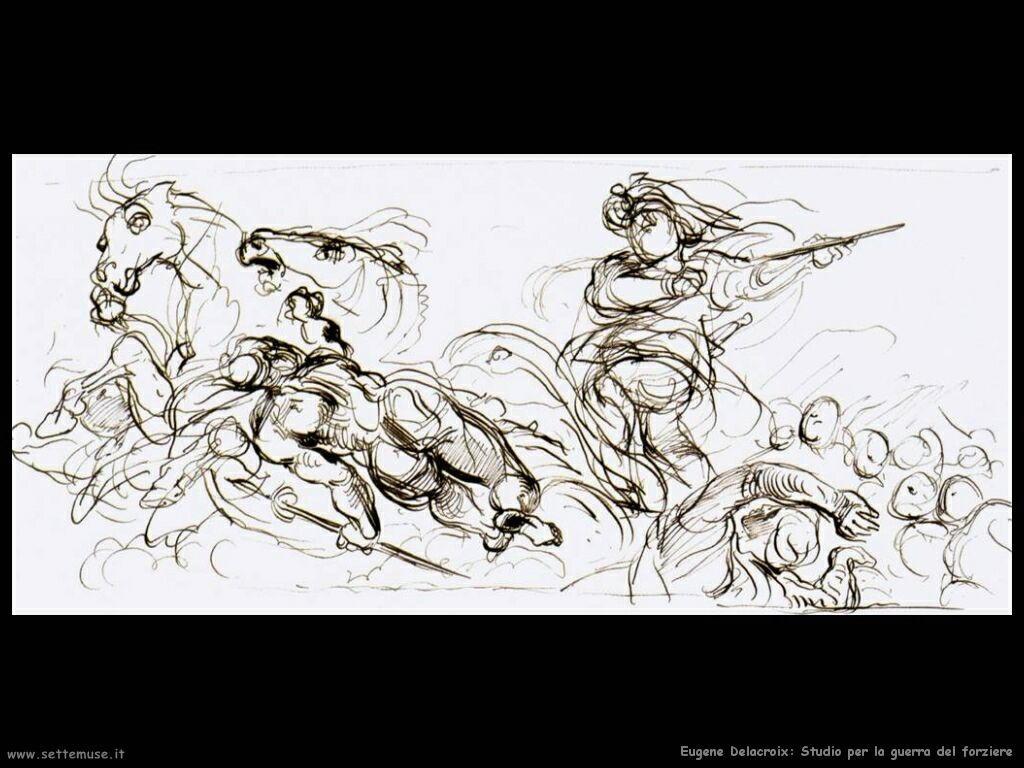 Eugène Delacroix Studio guerra del forziere