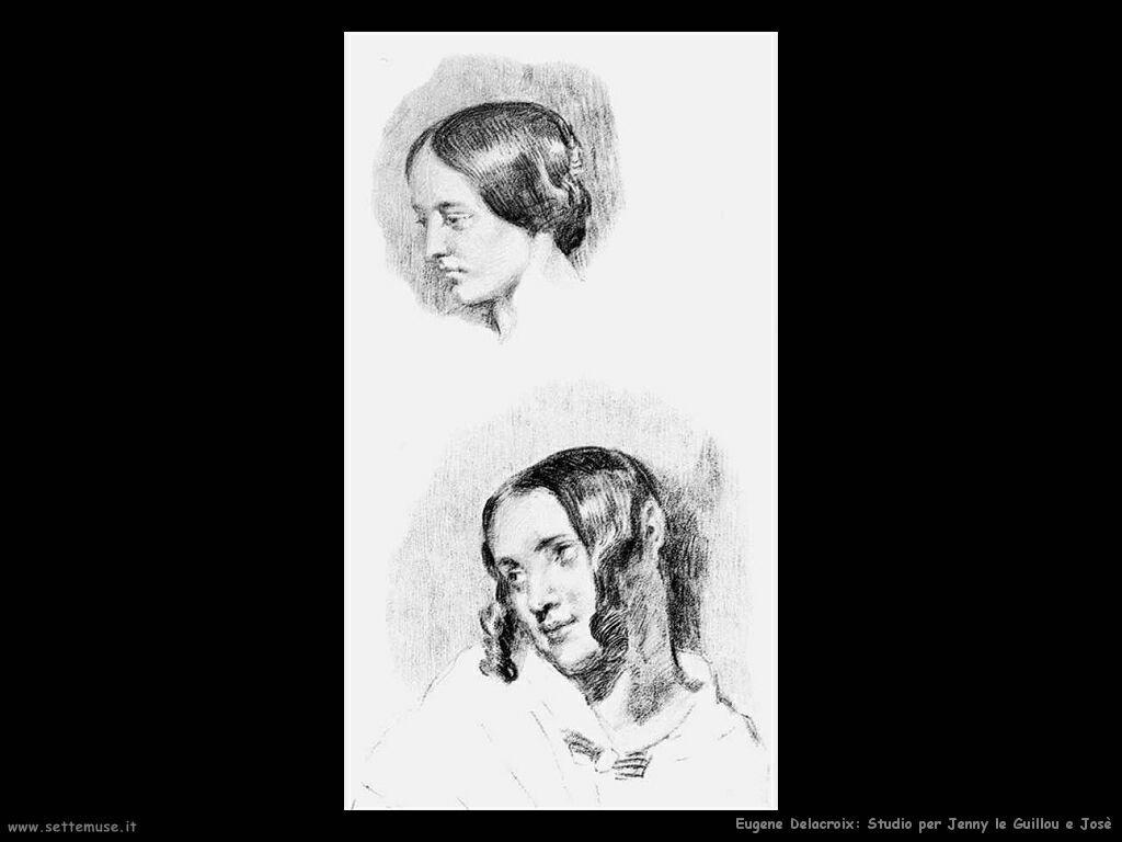 Eugène Delacroix Studio per Jenny le Guillou and José