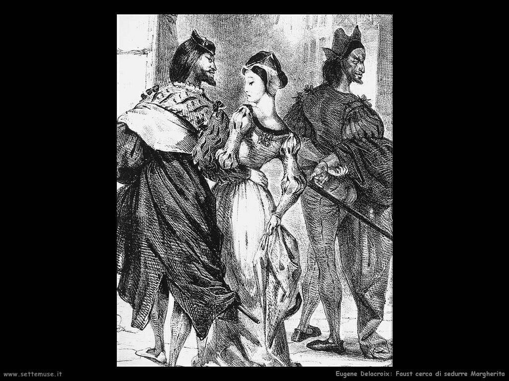 Eugène Delacroix Faust cerca di sedurre Margherita