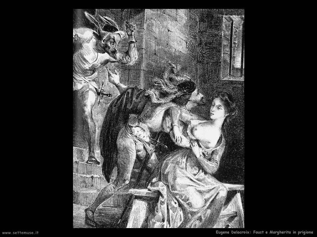 Eugène Delacroix Faust e Margherita in prigione