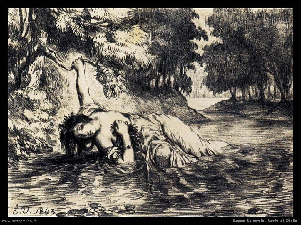 Eugène Delacroix Morte di Ofelia