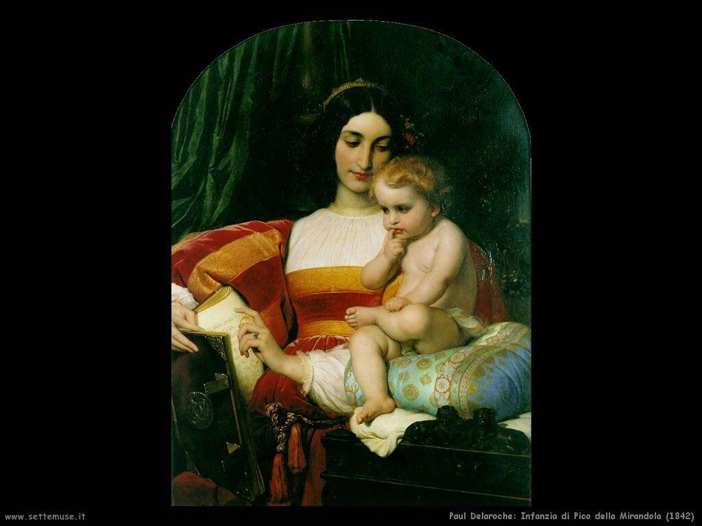 paul_delaroche_infanzia_di_pico_della_mirandola_1842