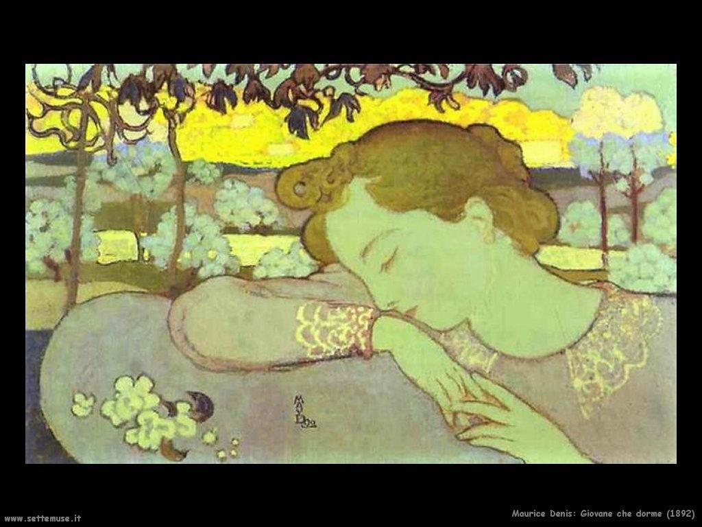 maurice denis una giovane che dorme 1892